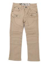 Arcade Styles - Stretch Denim Moto Jeans W/Zipper (4-7)-2415064