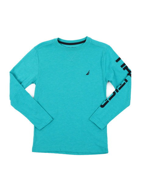 Nautica - Solid Long Sleeve T-Shirt (8-20)