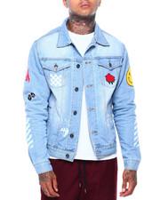 Denim Jackets - No Bad Vibes Denim Jacket-2416206