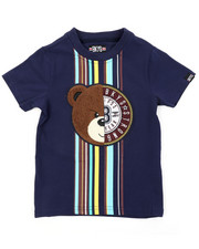Arcade Styles - Tee W/ Stripes & Chenille Patch (2T-4T)-2415536
