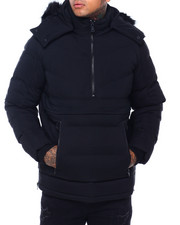 Jordan Craig - Faux fur Quilted Anorak Jacket-2416002