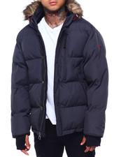 Men - Golden Peak Puffer coat w Faux Fur Trim-2415996