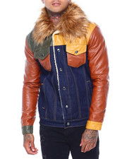 SMOKE RISE - SHEARLING PATCHWORK JACKET-2415866