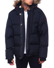 Men - Golden Peak Puffer coat w Faux Fur Trim-2415984