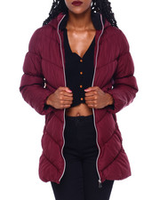 Women - Quilt W/Sherpa Hood & Collar Puffer-2410974