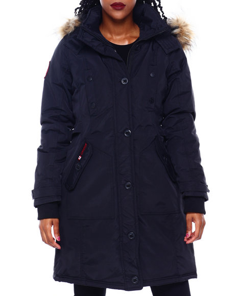 Canada Weather Gear - CWG Long Parka W/Faux Fur Trim Hood