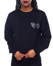 Women - Fleece Crew Neck Pullover W/Pkt/Buckle Detail-2414399