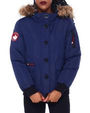 Canada Weather Gear - CWG Faux Fur Trim Hood Rib Bottom Bomber-2414389