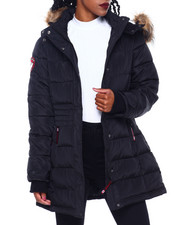 Women - CWG Faux Fur Trim Hood Mid Length Puffer-2416290