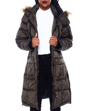 Women - CWG Bubble Jacket W/Faux Fur Trim Hood-2416320