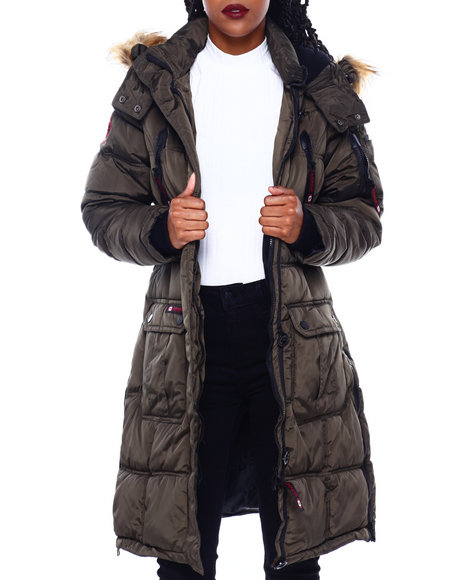 Canada Weather Gear - CWG Bubble Jacket W/Faux Fur Trim Hood