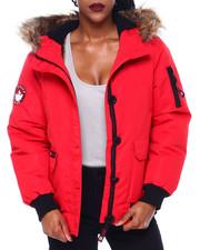 Outerwear - CWG Faux Fur Trim Hood Rib Bottom Bomber-2414328