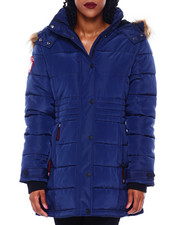 Women - CWG Faux Fur Trim Hood Mid Length Puffer-2416275