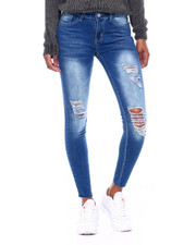 Women - Destructed Skinny Jean W/Raw Edge-2389012