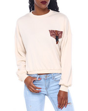 Women - Fleece Crew Neck Pullover W/Pkt/Buckle Detail-2414408