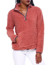 DEREK HEART - Faux Sherpa Pullover W/Toggle Pull At Hem-2414412