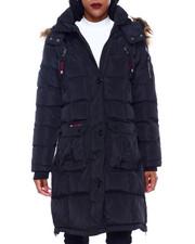 Canada Weather Gear - CWG Bubble Jacket W/Faux Fur Trim Hood-2416235