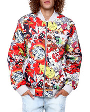 Members Only - LOONEY TUNES MASH UP RETRO PRINT BOMBER-2416775