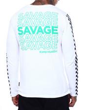 Shirts - Savage Print Ls Tee-2415944