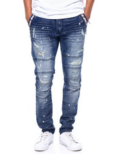 Kloud 9 - DISTRESSED DENIM W POCKET TAPE DETAIL-2415884