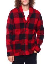 Sweatshirts & Sweaters - CRIMSON BUFFALO PLAID CARDIGAN-2416708