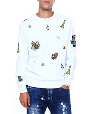 Cote De Nuits - EMBELLISHED FRENCH CREWNECK SWEATSHIRT-2416760