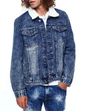 Denim Jackets - CODE DENIM JACKET W SHERPA COLLAR-2416983