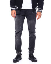 Cote De Nuits - DISTRESSED BLACK WASH JEAN-2416809