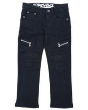 Arcade Styles - Rip & Repaired Stretch Denim Moto Jeans (4-7)-2414959