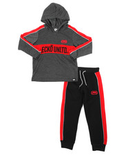 Sets - 2Pc L/S Jrsy Hooded Tee Jogger Set (4-7)-2417468