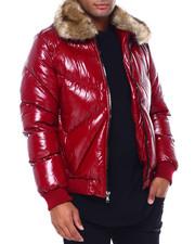 Jordan Craig - GLAZED PUFFER COAT W FUR COLLAR-2417659