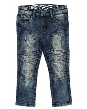 Sizes 2T-4T - Toddler - Stretch Moto Denim Jeans W/ Cut & Sew Knee Panels (2T-4T)-2417440