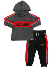 Sets - 2Pc L/S Jrsy Hooded Tee Jogger Set (2T-4T)-2417464
