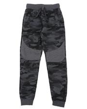 Boys - All Over Camo Print Fleece Joggers (8-18)-2418069