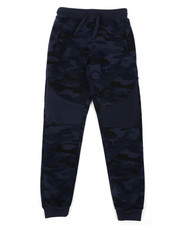 Boys - All Over Camo Print Fleece Joggers (8-18)-2418064