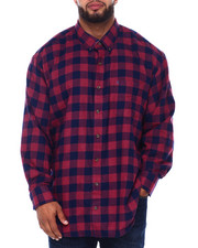 Izod - L/S Flannel Shirt (B&T)-2415503