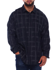 Sean John - L/S Graphic Check Shirt (B&T)-2418093