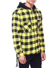 Shirts - BUFFALO PLAID WORKSHIRT W SHERPA HOOD-2418460