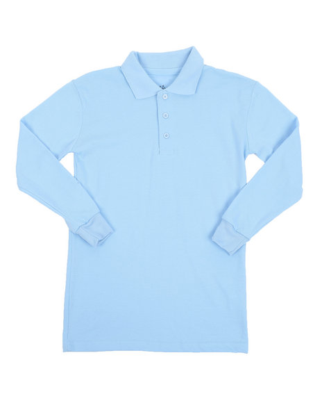 Arcade Styles - L/S Solid Pique Polo (8-20)