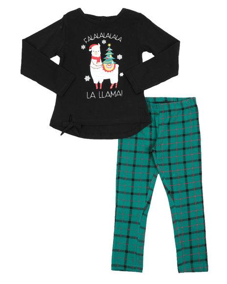La Galleria - 2 Pc  Holiday Top & Legging Set (7-16)