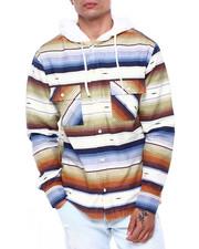 Shirts - AZTEC PATTERN WORKSHIRT W SHERPA HOOD-2418490