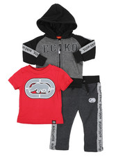 Infant & Newborn - 3Pc Fleece Jogger Set (Infant)-2418198