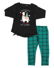 Girls - 2 Pc  Holiday Top & Legging Set (2T-4T)-2418423