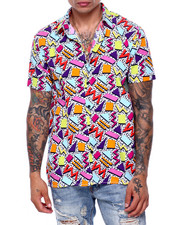Men - Geo Pattern SS Woven Shirt-2419251