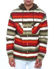 Shirts - AZTEC PATTERN WORKSHIRT W SHERPA HOOD-2418470