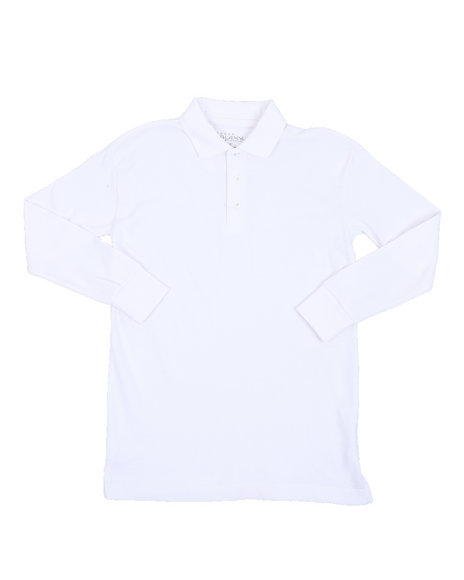Arcade Styles - L/S Solid Polo Shirt (8-20)
