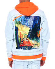 Denim Jackets - DENIM JACKET W HOOD AND ART HIT-2419284