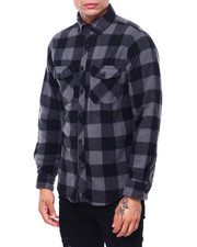 Mens-Fall - BUFFALO PLAID FRANK POLAR FLEECE SHIRT-2418716