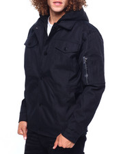 Heavy Coats - BALLISTIC NYLON JACKET W FLEECE HOOD-2419594