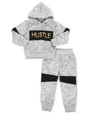 Sizes 2T-4T - Toddler - 2Pc Fleece Hoodie Foil Neoprene Jogger Set (2T-4T)-2418677